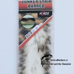 zonker strip barred - bílo-černá 01-4mm