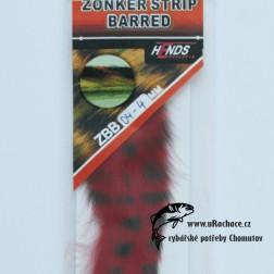 zonkers strip barred - červeno-čermá
