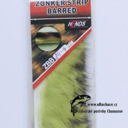 zonkers strip barred - chartreuse-čermá