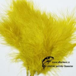 peří Marabou 09 - olivová světlá