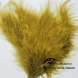 peří Marabou 10 - olivová
