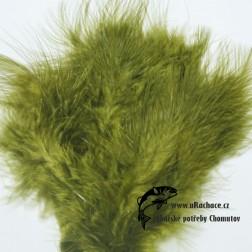 peří Marabou 11 - zelená světlá