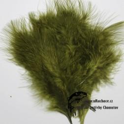peří Marabou 12 - zelená tmavá
