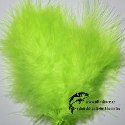 peří Marabou 15 - zelená fluo světlá