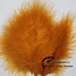 peří Marabou 16 - zelená fluo tmavá