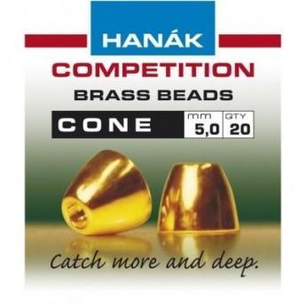 Klasické mosazné hlavičky Cone 5mm
