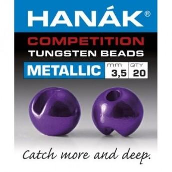 Tungstenové hlavičky Metallic tmavě fialové