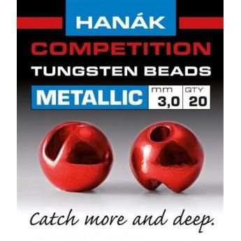 Tungstenové hlavičky Metallic červené
