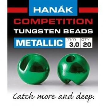 Tungstenové hlavičky Metallic zelené