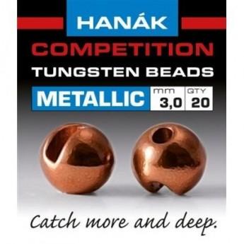 Tungstenové hlavičky Metallic hnědé