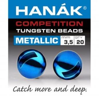Tungstenové hlavičky Metallic modré
