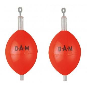 oválné plovátko DAM - červené
