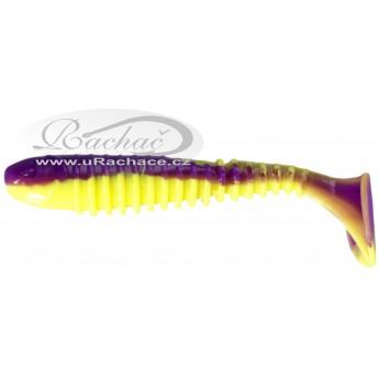 Berkley Flex Rib Shad Purple Chartreuse
