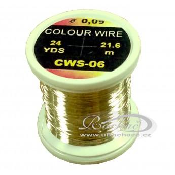 drátek Colour Wire 06 - žlutá