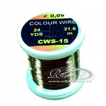 drátek Colour Wire 15 - olivová
