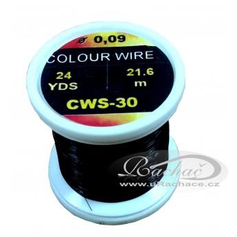 drátek Colour Wire 30 - černá