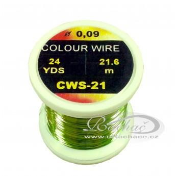 drátek Colour Wire 21 - chartreuse