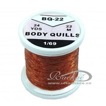 Body Quills BQ-22 červeno hnědá tmatá