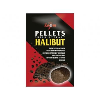 Feeding Halibut Pellets