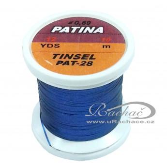 Patina Tinsel - 28 tmavě modrá