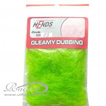 gleamy dubbing - 03 fluo zelená