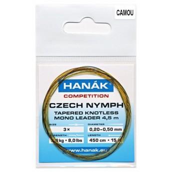 Návazec HANÁK Competition Czech Nymph monofilní ujímaný