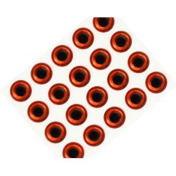 3D Epoxy Eyes, Metalic Copper