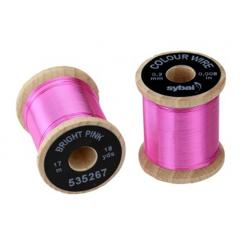 Colour Wire, 0.2 mm - Bright Pink