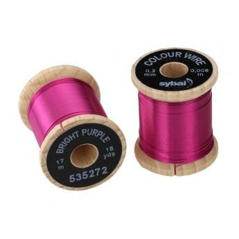 Colour Wire, 0.2 mm -Bright Purple