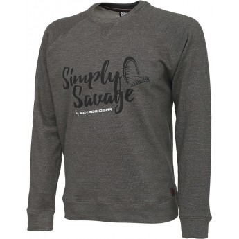 mikina Simply Savage Sweater Melange Grey vel.L